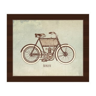 Bicyclette Framed Canvas Wall Art
