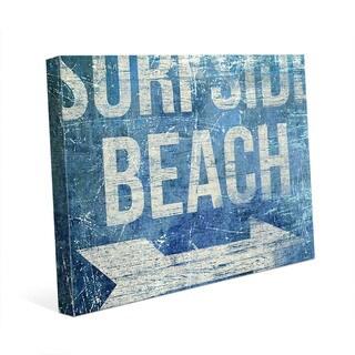 Surfside Beach - Blue Wall Art on Canvas