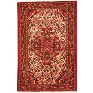 Herat Oriental Persian Hand-knotted Tribal Hamadan Wool Rug (2'7 x 4')