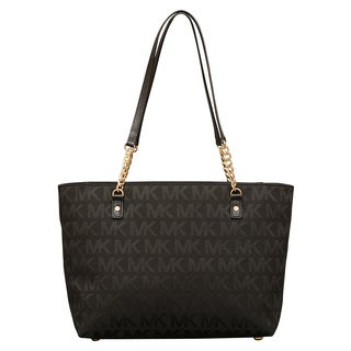 Michael Kors Jet Set Black East/West Chain Tote