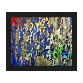 Peeling Hues Framed Canvas Wall Art