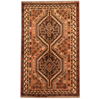 Herat Oriental Persian Hand-knotted Tribal Shiraz Wool Rug (2'6 x 4')