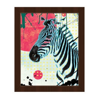 The Tranquil Zebra Framed Canvas Wall Art