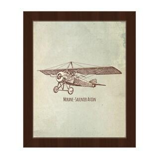 Morane - Saulnier Avion Framed Canvas Wall Art