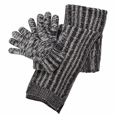 16e4c5a8c6019 Isotoner Women's Acrylic Knit Gloves and Cable Scarf Gift Box Set