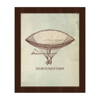 Dirigeable lectrique Framed Canvas Wall Art