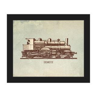 Locomotive Framed Canvas Wall Art