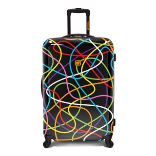Loudmouth Multicolored ABS/Plastic Scribblz 29-inch Expandable Spinner Suitcase