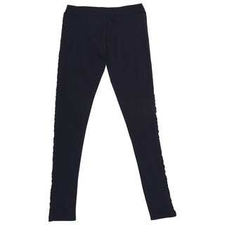 French Toast Girl's Dark Navy Polyester/Spandex/Cotton Ankle-length Runched Leggings