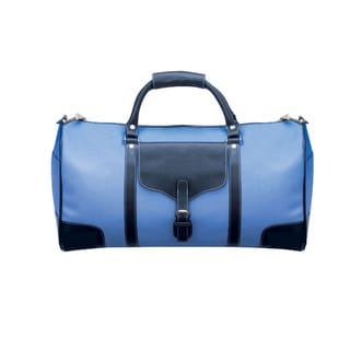 Goodhope Voyager Blue Leather 21-inch Carry-on Duffel Bag