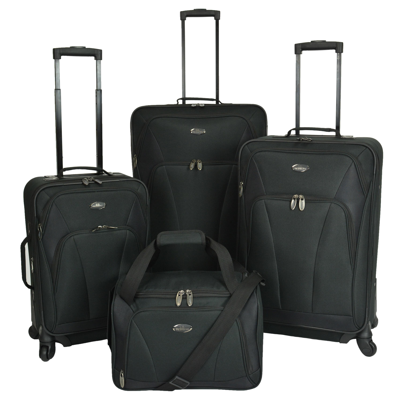 US Traveler Saratoga 4-piece Expandable Spinner Luggage S...