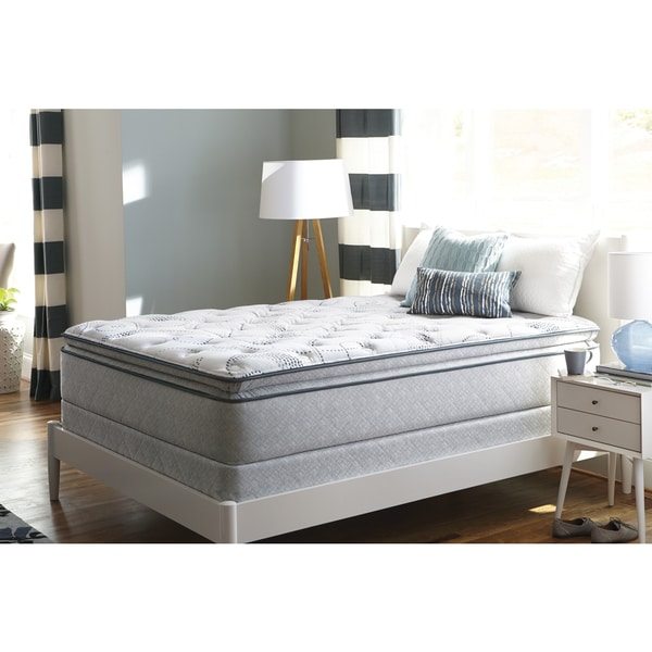 shop sealy sand cove plush euro pillow top queen size mattress free shipping today overstock. Black Bedroom Furniture Sets. Home Design Ideas