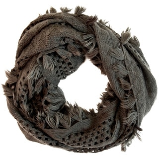 LA 77 Knotted Fringe Infinity Scarf