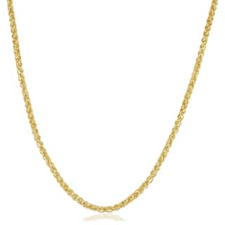 14k Yellow Gold Filled 2.5mm Round Wheat Chain Necklace (16-36 inch)