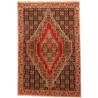 Herat Oriental Persian Hand-knotted Tribal Senneh Wool Rug (2'7 x 3'9)