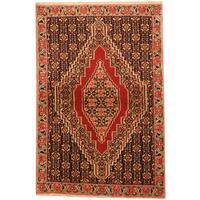 Handmade Herat Oriental Persian Tribal Senneh Wool Rug  - 2'7 x 3'9 (Iran)