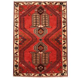 Herat Oriental Persian Hand-knotted Tribal Hamadan Wool Rug (2'10 x 3'10)