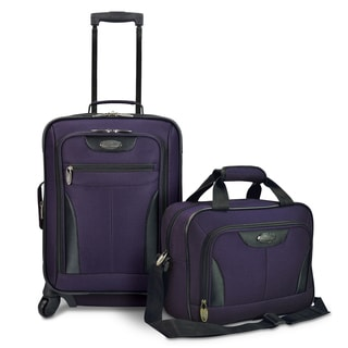 U.S. Traveler Charleville Purple 2-piece Carry-on Spinner Luggage Set