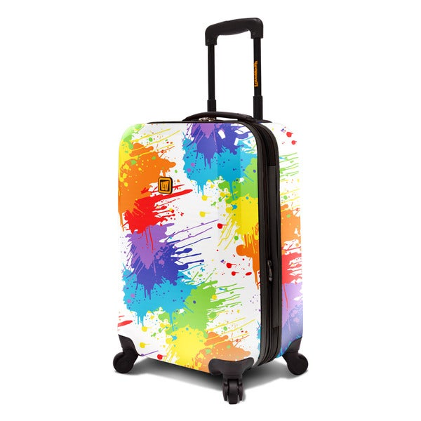 Loudmouth White Drop Cloth 22-inch Expandable Hardside Carry-On Spinner Suitcase