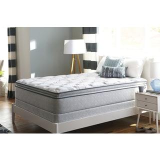 Sealy Sand Cove Plush Euro Pillowtop Queen-size Mattress Set