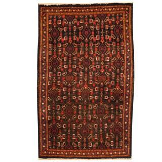 Herat Oriental Persian Hand-knotted Tribal Hamadan Wool Rug (2'3 x 3'9)