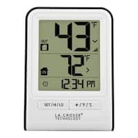 La Crosse Technology 308-1409WT White Wireless Temperature Station with Time