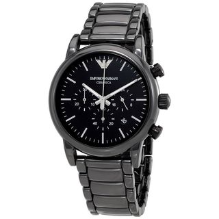 Emporio Armani Men's AR1507 'Dress' Chronograph Black Stainless Steel Watch