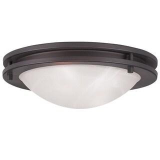 Ariel Glass/Steel Ceiling Mount Light Fixture
