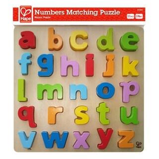 Hape Children's Bamboo Lowercase Alphabet Puzzle