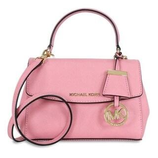 Michael Kors Ava Extra-Small Misty Rose Saffiano Leather Crossbody Handbag