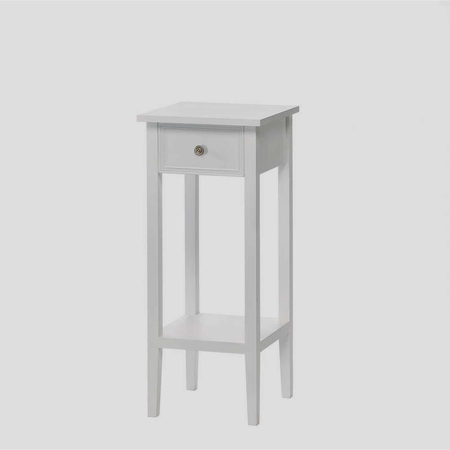 - Shop Naples Slim White Accent Table - Overstock - 12862975