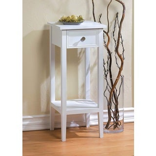 Naples Slim White Accent Table