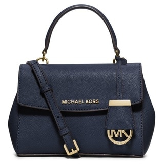 Michael Kors Ava Extra-Small Navy Saffiano Leather Crossbody Handbag