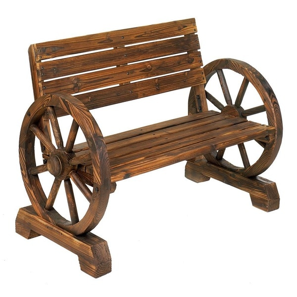 Shop Olmsted Wooden Country Style Outdoor Bench On Sale Overstock 12863042