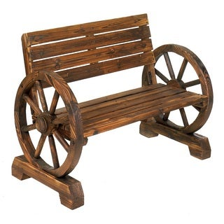Olmsted Wooden Country Style Outdoor Bench
