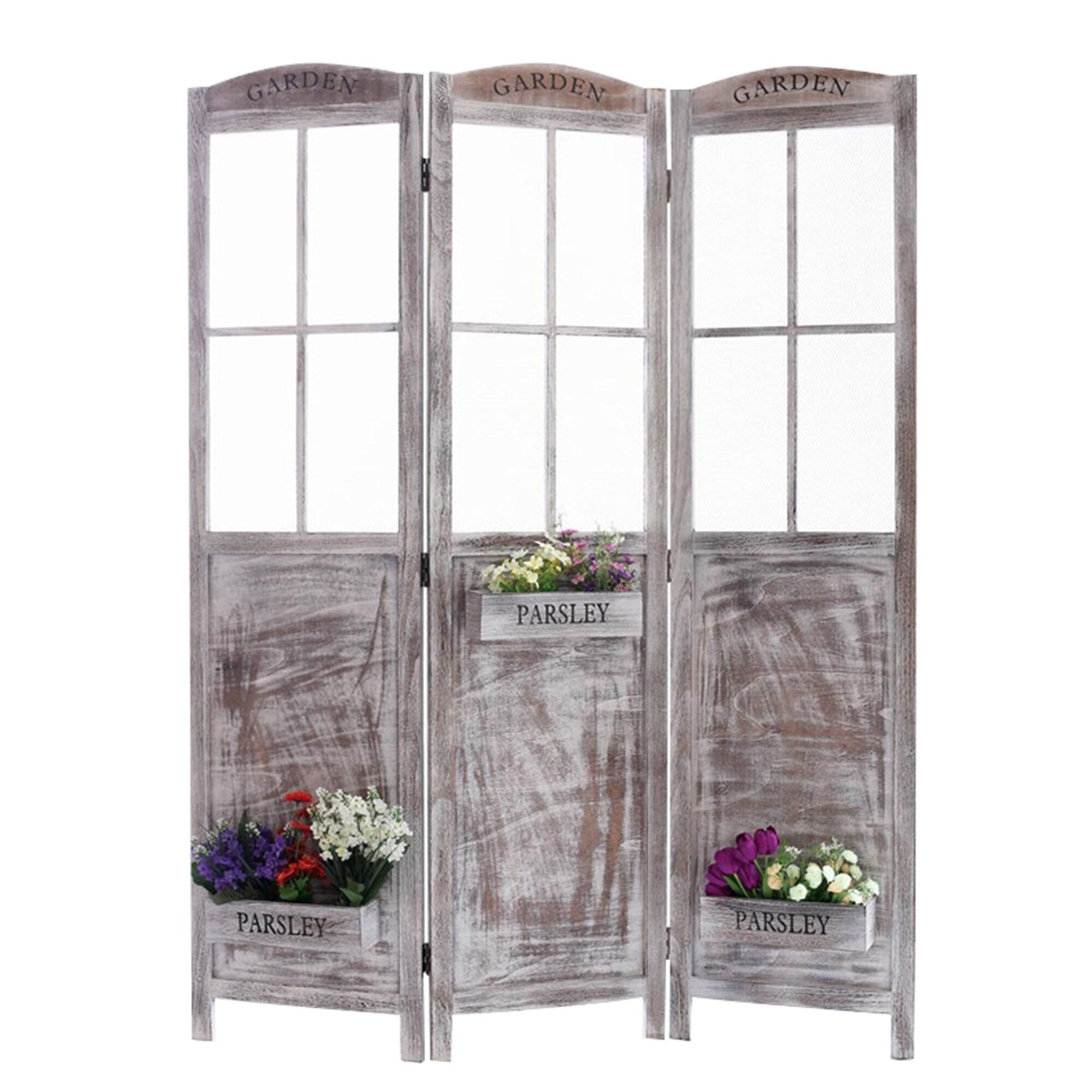 Screen Gems Flower Pot Garden Screen (Grey)