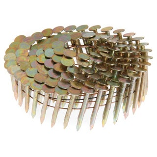 """Grip Rite GRCR5DGAL 1-3/4"""" X .120"""" X 15? Wire Collated Galvanized Coil Roof Nail 7,200-ct"""