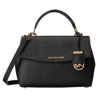 Michael Kors Ava Extra-Small Black Saffiano Leather Crossbody Handbag