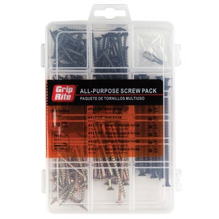 Grip Rite MPCDWS Indoor-Use Screws Assorted Size 170 pc Set