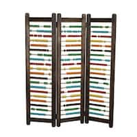 Multi-colored Abacus 3-panel Screen