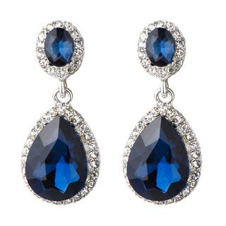 Brass Rhinestone Peardrop Clip on Earrings|https://ak1.ostkcdn.com/images/products/12863115/P19624956.jpg?impolicy=medium