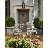Universal Elan Collection Grey Wood and Fabric Arm Chairs (Set of 2)