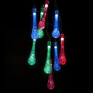 LED Concepts Multi-color LED Raindrop 30-light String Lights