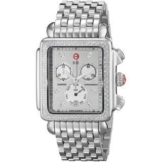 Michele Women's MWW06Z000001 'Deco XL' Chronograph Diamond Stainless Steel Watch