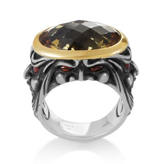 Stephen Webster Sterling Silver and 18k Yellow Gold Beer Quartz and Garnet Gargoyle Ring|https://ak1.ostkcdn.com/images/products/12863151/P19624955.jpg?impolicy=medium