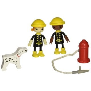Hape 'Playscapes' Happy Firemen Wooden Play Figures Activity Set