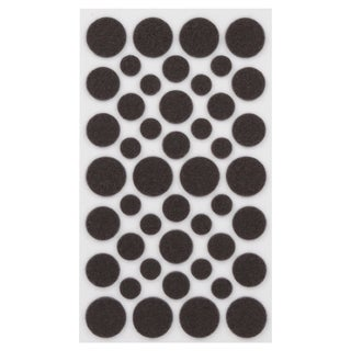 Waxman Consumer Group 4615495N Brown Self-Stick Round Felt Pads Assorted Sizes 46-ct