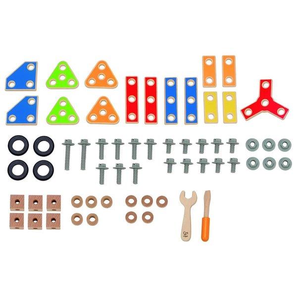 Hape Multicolor Wooden Basic Builder Play Set