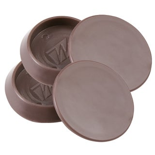"""Waxman Consumer Group 4652995N 1-1/4"""" Brown Round Caster Cups 4-ct"""
