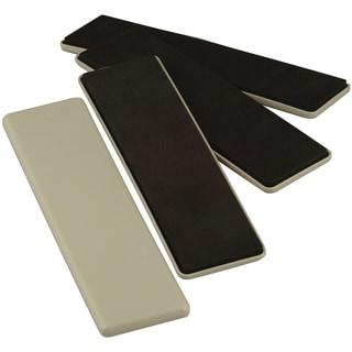 "Waxman Consumer Group 4703695N 2-1/2"" X 9"" Beige Reusable Furniture Sliders 4-ct"